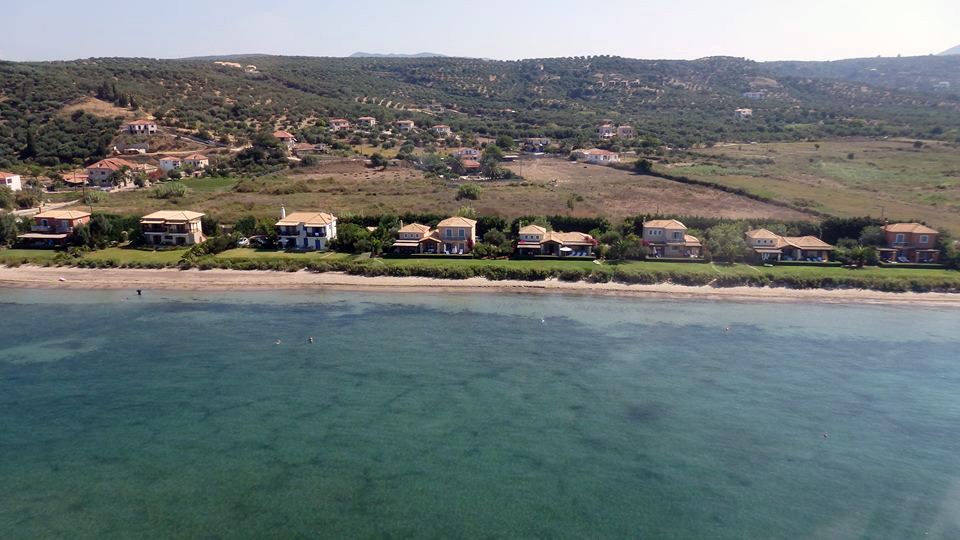 Ioli's Villas from air